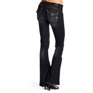 Miss Me Black Mid-Rise Flare Jeans - 28